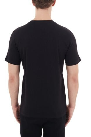 Hugo Boss - Hugo Boss Regular Fit Baskılı Bisiklet Yaka % 100 Pamuk Erkek T Shirt 50439038 001 SİYAH (1)
