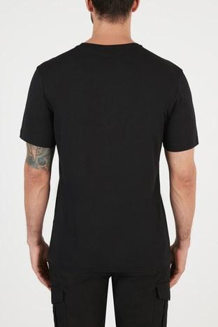 Hugo Boss - Hugo Boss Regular Fit Baskılı Bisiklet Yaka % 100 Pamuk Erkek T Shirt 50448683 001 SİYAH (1)