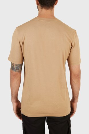 Hugo Boss - Hugo Boss Regular Fit Baskılı Bisiklet Yaka % 100 Pamuk Erkek T Shirt 50456859 265 BEJ (1)