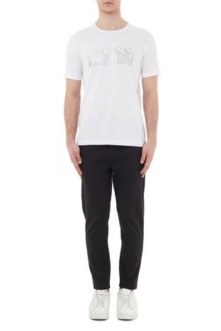 Hugo Boss - Hugo Boss Regular Fit Belden Bağlamalı Cepli Erkek Pantolon 50436558 001 SİYAH