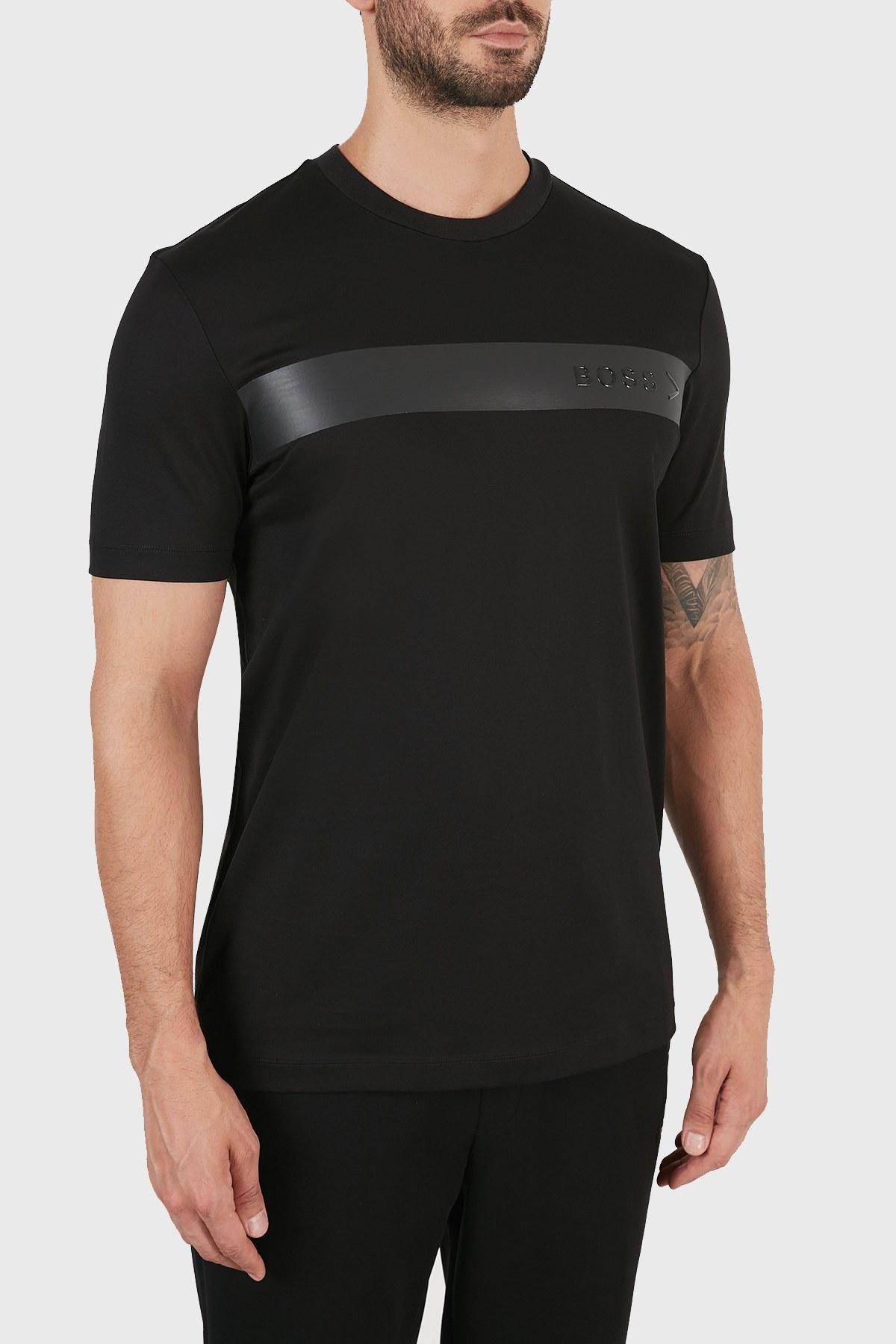 Hugo Boss Regular Fit Bisiklet Yaka % 100 Pamuk Erkek T Shirt 50458358 001 SİYAH