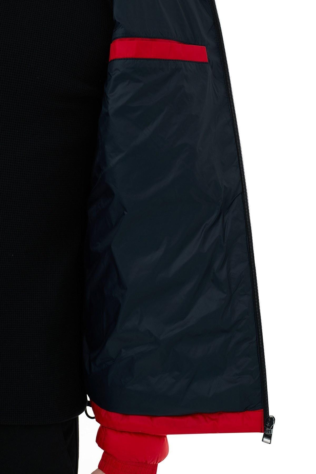 Hugo Boss Regular Fit Dik Yaka Şişme Erkek Mont 50427292 625 KIRMIZI