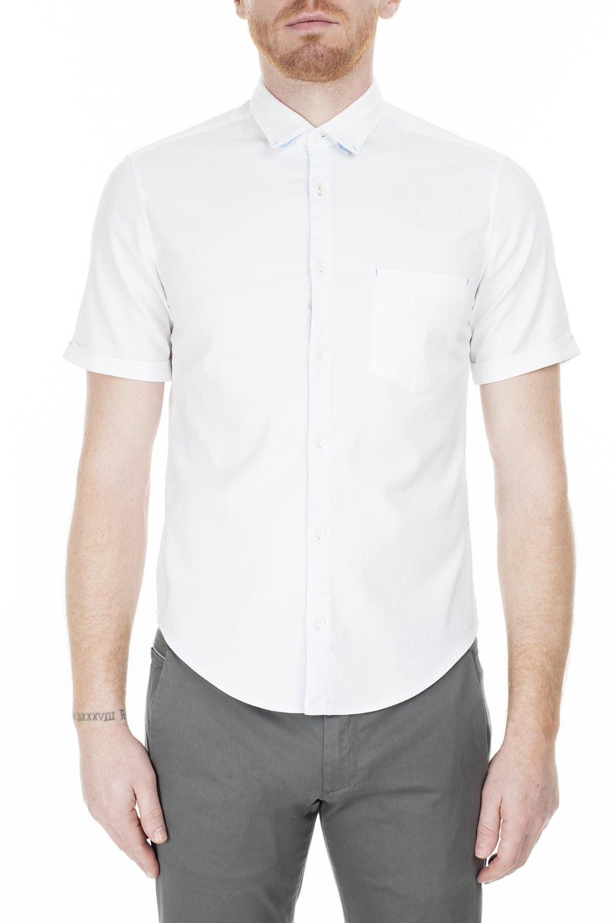 Hugo Boss Regular Fit Erkek Gömlek S 50381583 100 BEYAZ