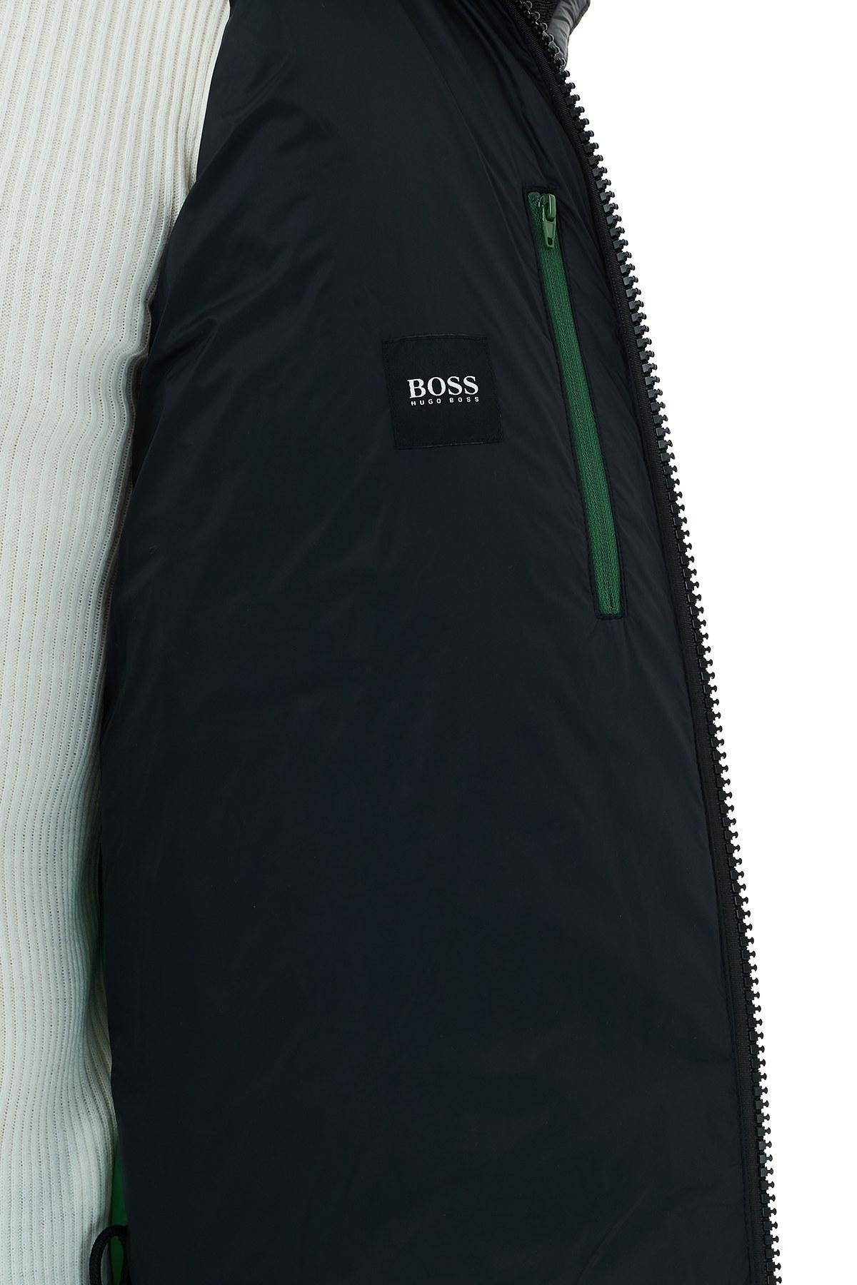 Hugo Boss Regular Fit Kapüşonlu Cepli Şişme Erkek Mont 50436643 001 SİYAH