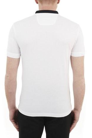 Hugo Boss - Hugo Boss Regular Fit Pamuklu Düğmeli T Shirt Erkek Polo 50448653 100 BEYAZ (1)