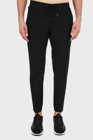 Hugo Boss - Hugo Boss Slim Fit Belden Bağlamalı Cepli Erkek Pantolon 50453780 001 SİYAH (1)