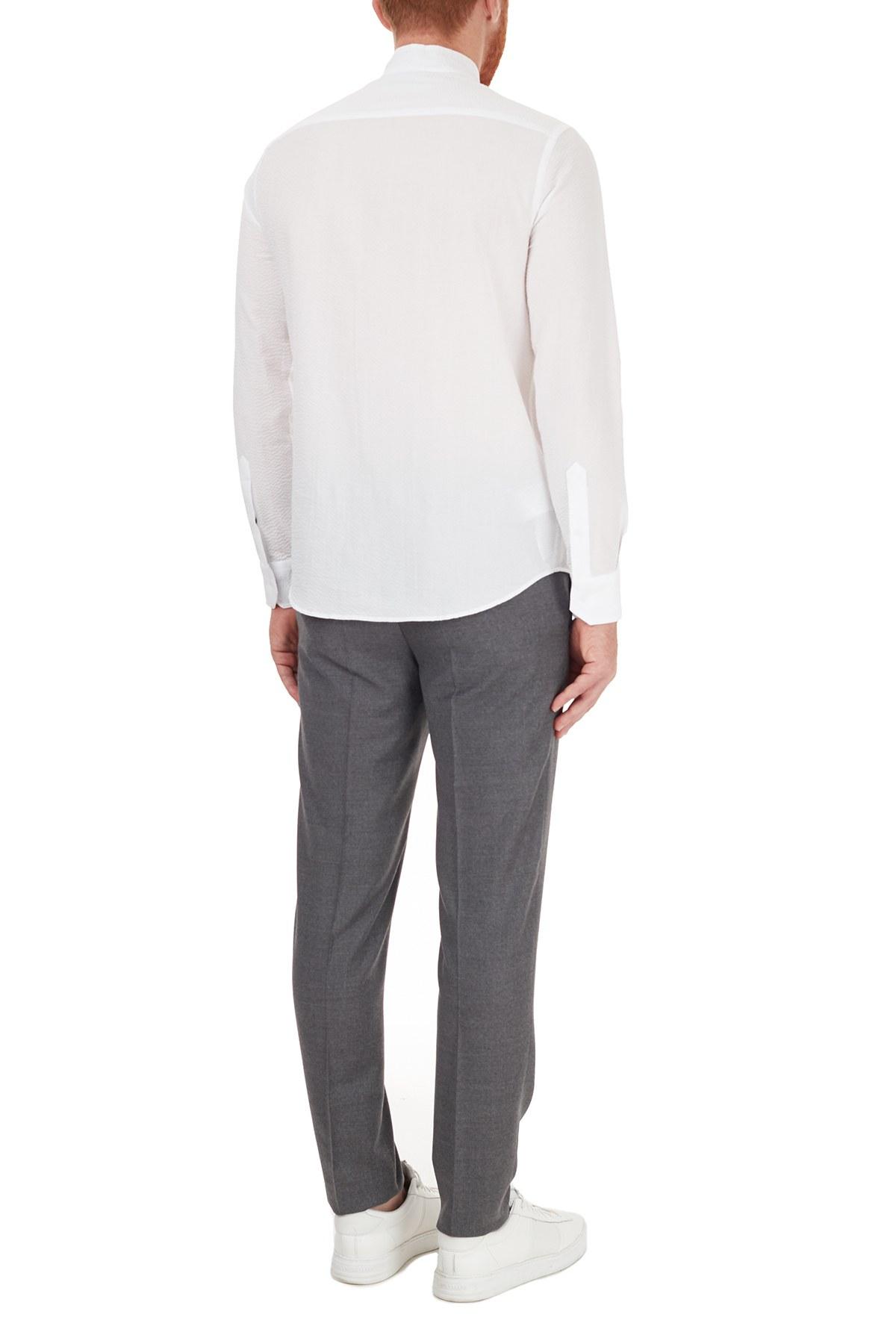 Hugo Boss Slim Fit Beli Bağcıklı Yünlü Erkek Pantolon 50440817 030 GRİ