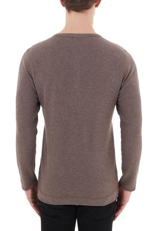 Hugo Boss - Hugo Boss Slim Fit Bisiklet Yaka % 100 Pamuk Erkek T Shirt 50401843 250 HAKİ (1)