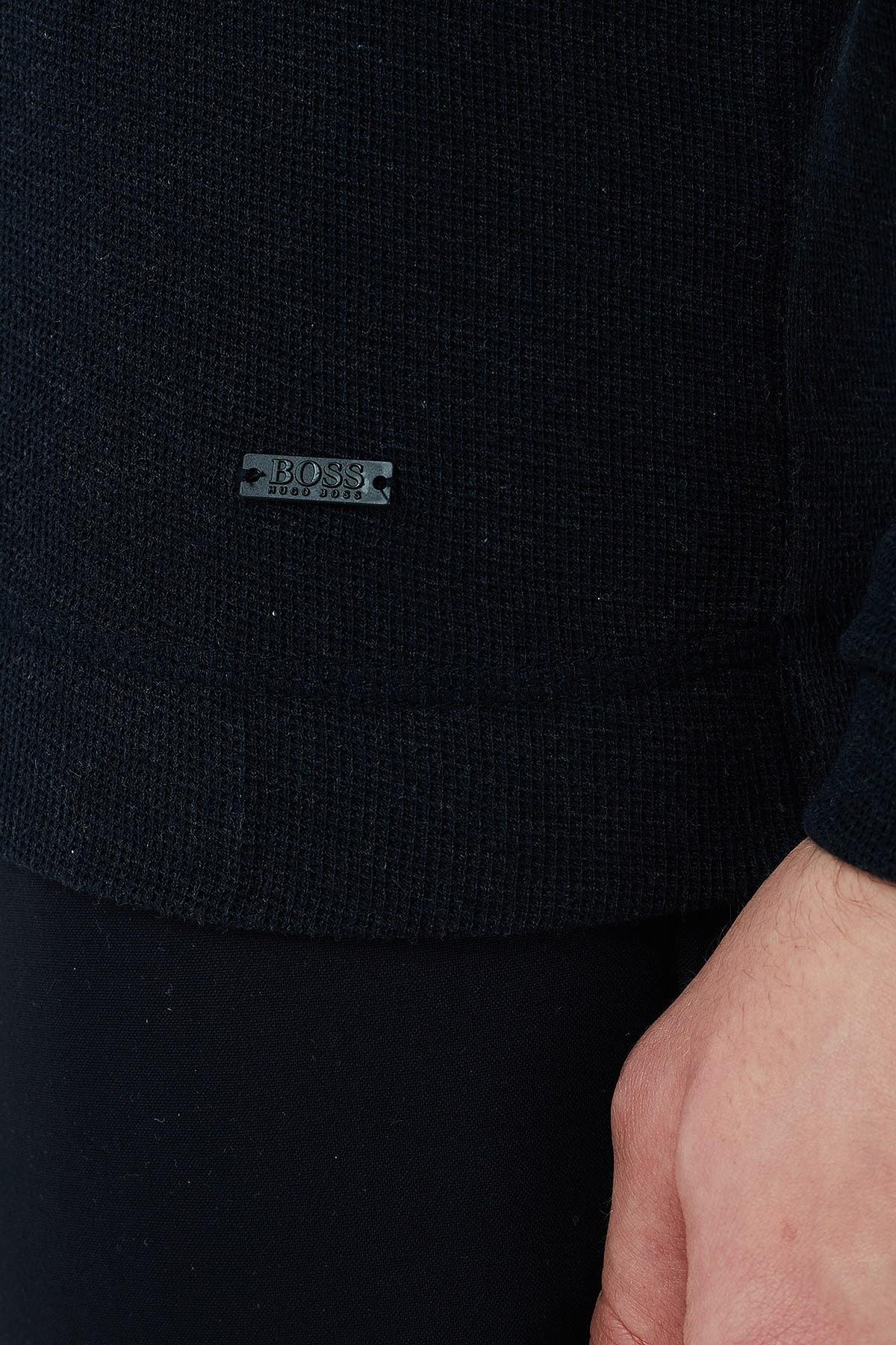 Hugo Boss Slim Fit Bisiklet Yaka % 100 Pamuk Erkek T Shirt 50401843 404 LACİVERT