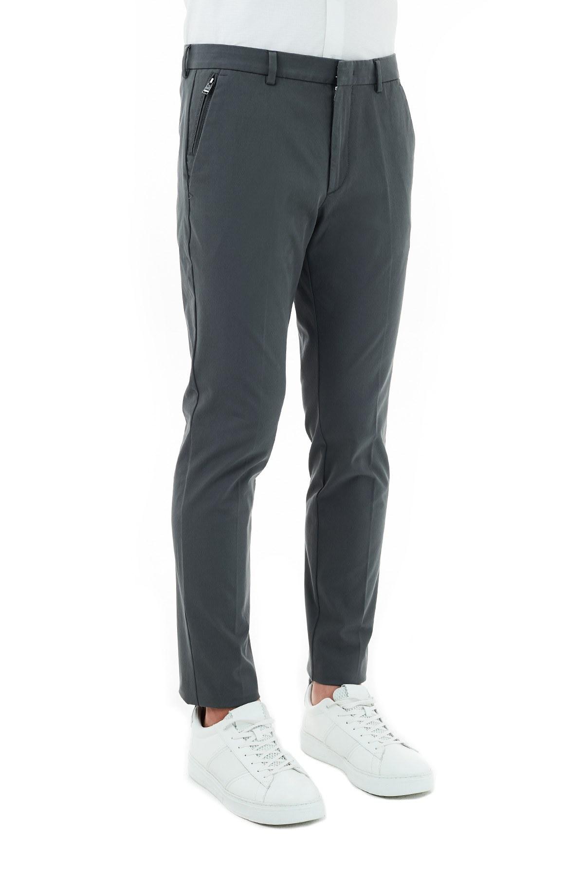 Hugo Boss Slim Fit Cepli Erkek Pantolon 50437895 032 GRİ