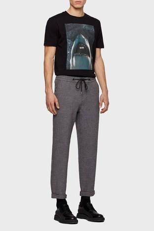 Hugo Boss - Hugo Boss Slim Fit Erkek Pantolon 50449680 001 SİYAH