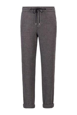 Hugo Boss - Hugo Boss Slim Fit Erkek Pantolon 50449680 001 SİYAH (1)