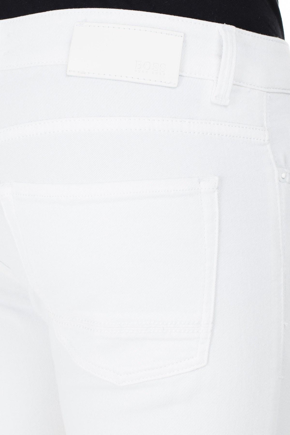 Hugo Boss Slim Fit Jeans Erkek Kot Pantolon 50426531 100 BEYAZ