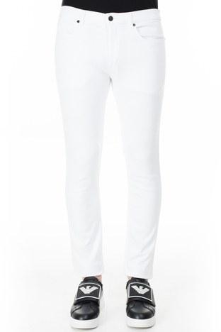 Hugo Boss - Hugo Boss Slim Fit Jeans Erkek Kot Pantolon 50426705 100 BEYAZ (1)