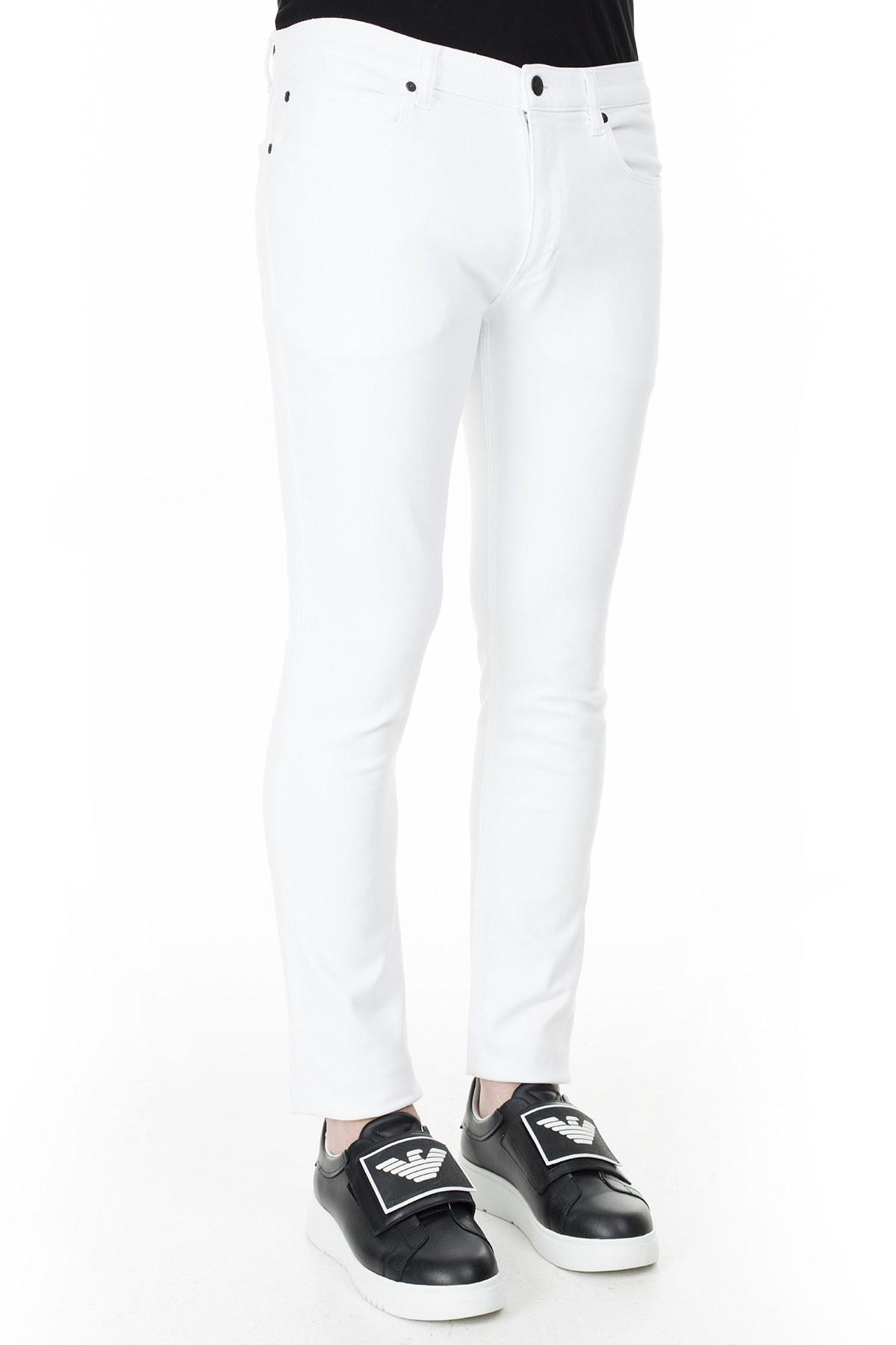 Hugo Boss Slim Fit Jeans Erkek Kot Pantolon 50426705 100 BEYAZ