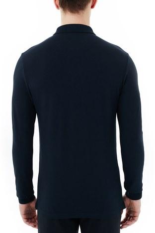 Hugo Boss - Hugo Boss Slim Fit Pamuklu Düğmeli T Shirt Erkek Polo 50387465 404 LACİVERT (1)