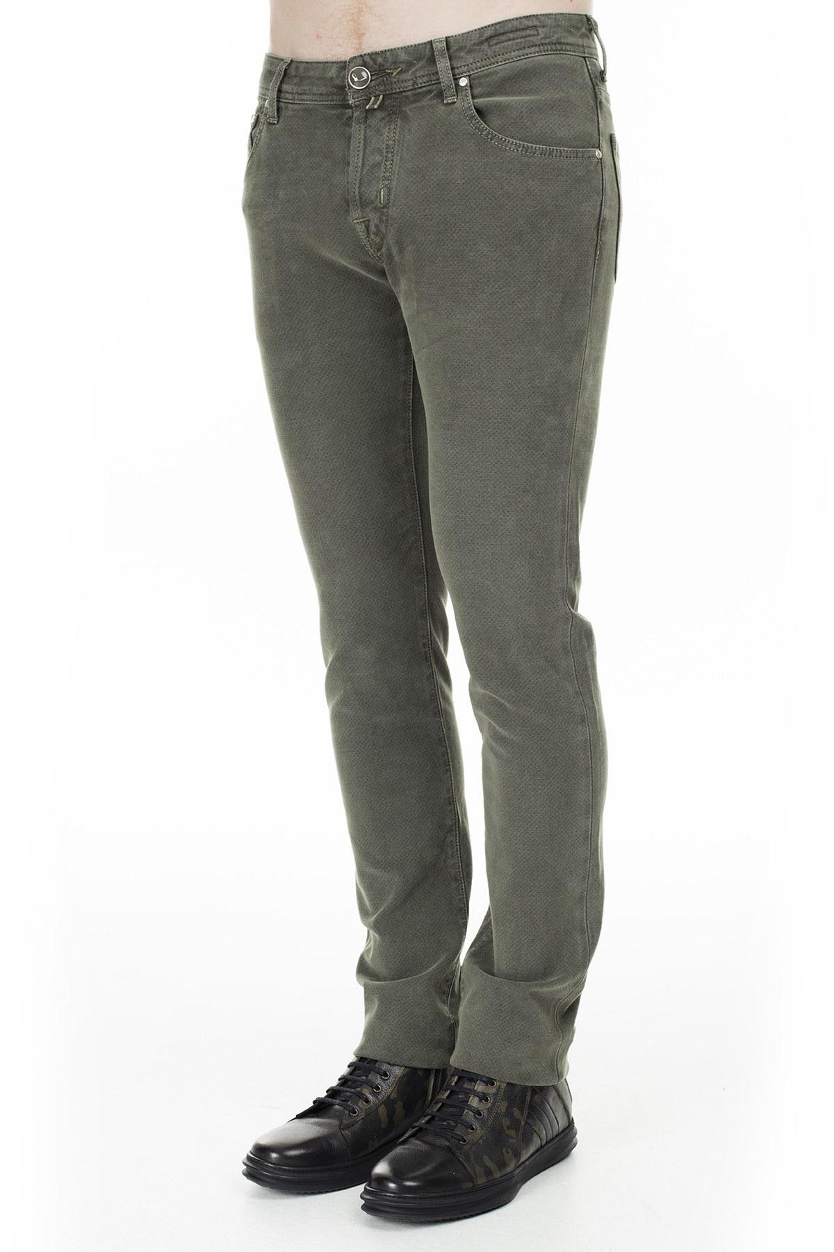 Jacob Cohen Jeans Erkek Pamuklu Pantolon J622 01661V 727 HAKİ