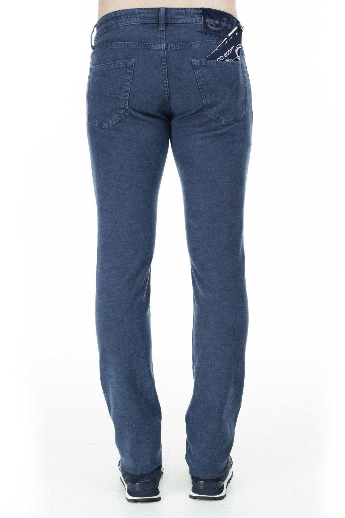 Jacob Cohen Jeans Erkek Pamuklu Pantolon J622 01661V 858 KOYU MAVİ