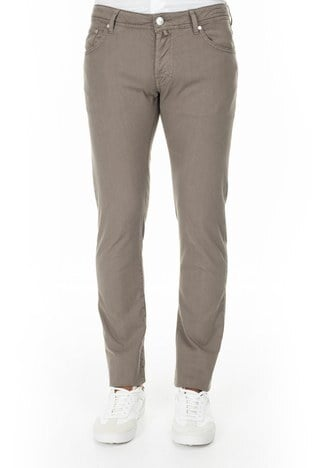 Jacob Cohen - Jacob Cohen Jeans Erkek Pamuklu Pantolon J622 SLIM 1838S 308 KAHVE (1)