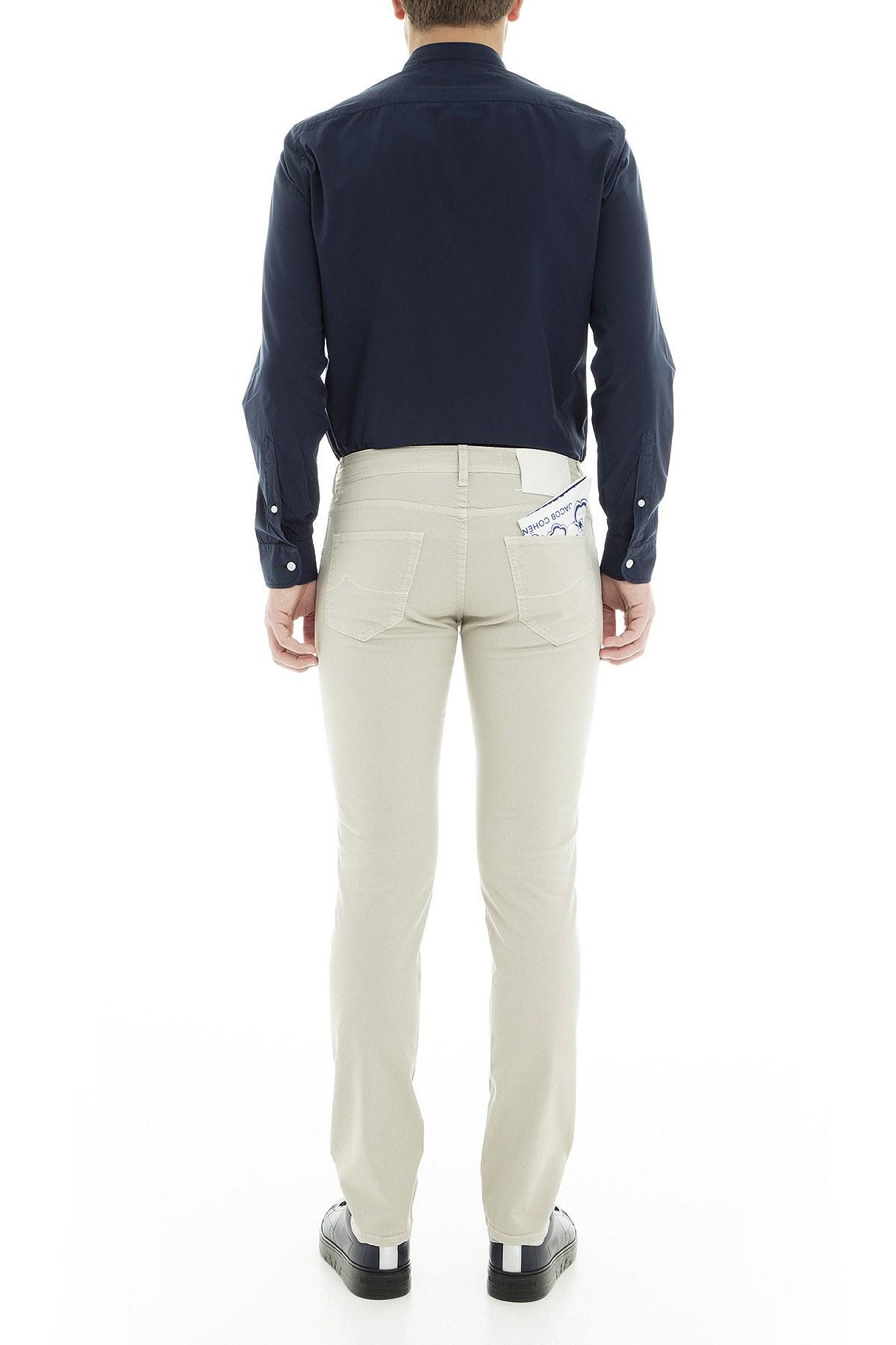 Jacob Cohen Jeans Erkek Pamuklu Pantolon J62201437S 104 GRİ