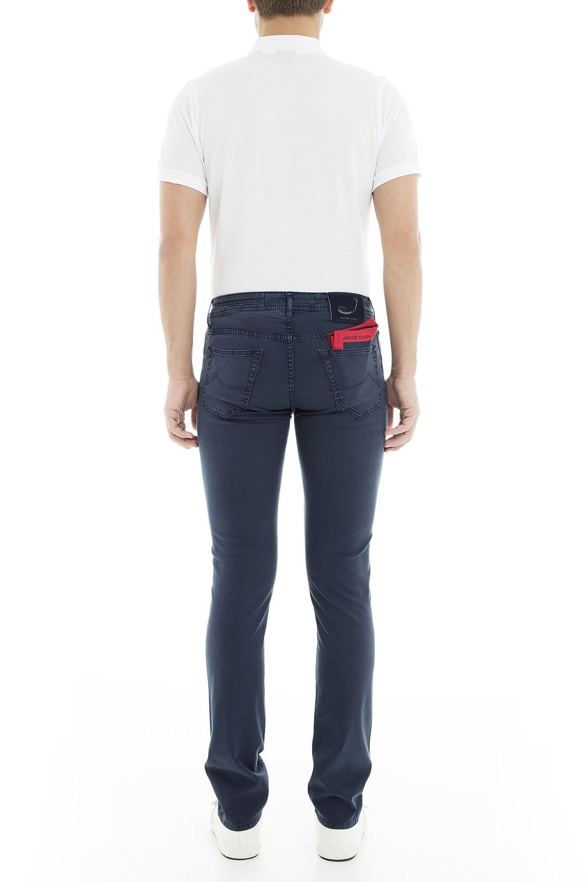 Jacob Cohen Jeans Erkek Pamuklu Pantolon J622566V 866 KOYU LACIVERT