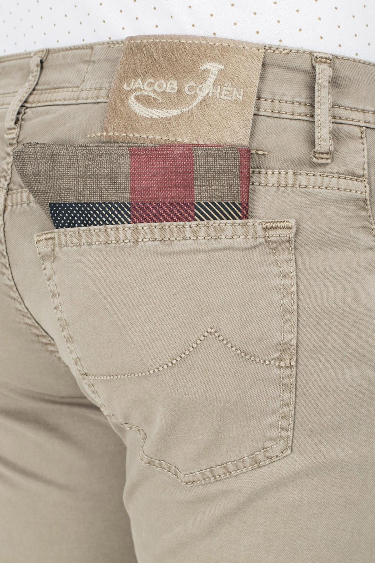 Jacob Cohen Jeans Erkek Pamuklu Pantolon J688 566V 308 TOPRAK