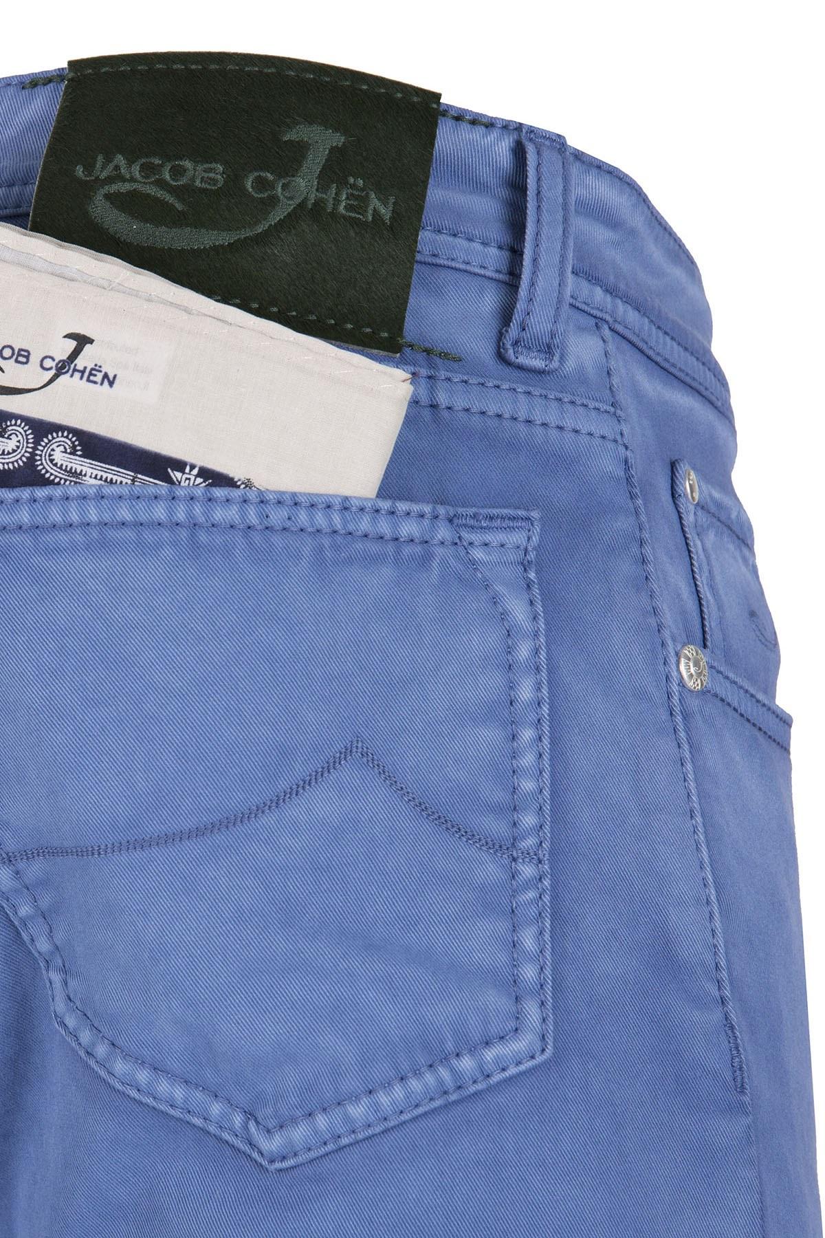 JACOB COHEN JEANS Erkek Pamuklu Pantolon PW622 COMF 01023LX 859 MAVİ
