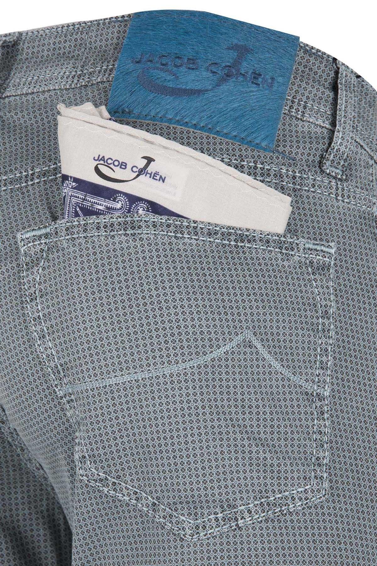 JACOB COHEN JEANS Erkek Pamuklu Pantolon PW622 COMF 01043V 731 YEŞİL