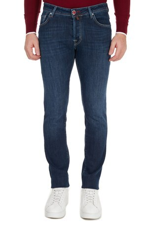 Jacob Cohen - Jacob Cohen Pamuklu Jeans Erkek Kot Pantolon J622 00709W2 MAVİ (1)