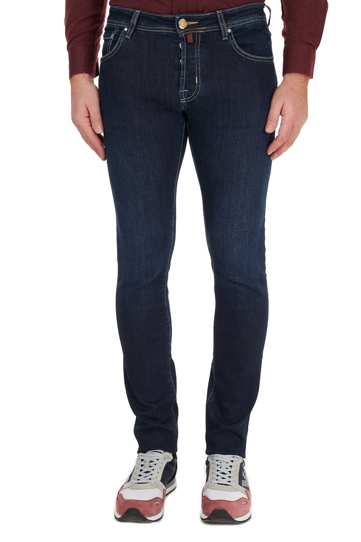 Jacob Cohen Slim Fit Pamuklu Jeans Erkek Kot Pantolon J622 SLIM 00709W1 LACİVERT