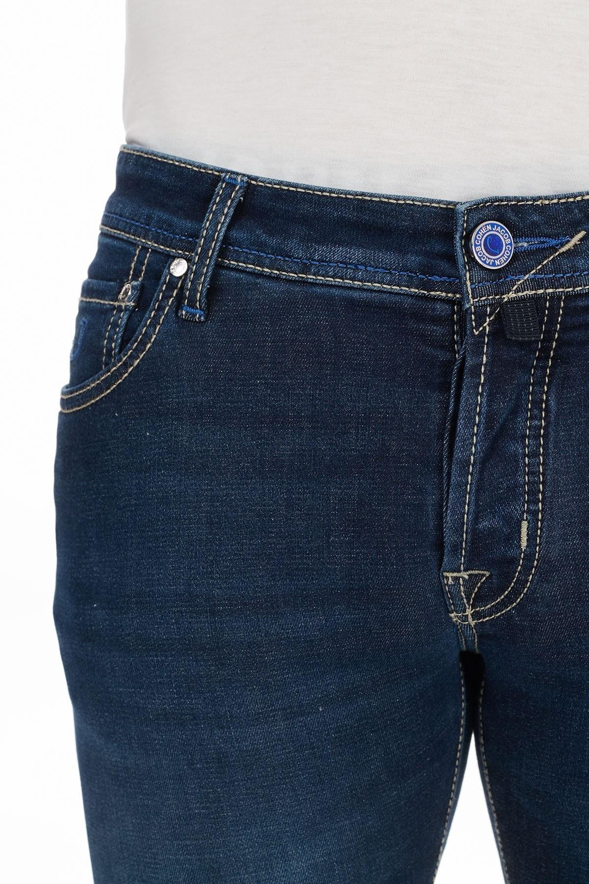 Jacob Cohen Slim Fit Pamuklu Jeans Erkek Kot Pantolon J622 SLIM 02050W1 LACİVERT
