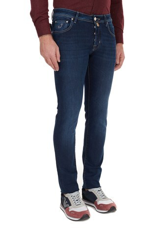 Jacob Cohen - Jacob Cohen Slim Fit Pamuklu Jeans Erkek Kot Pantolon J622 SLIM 08364W1 LACİVERT (1)