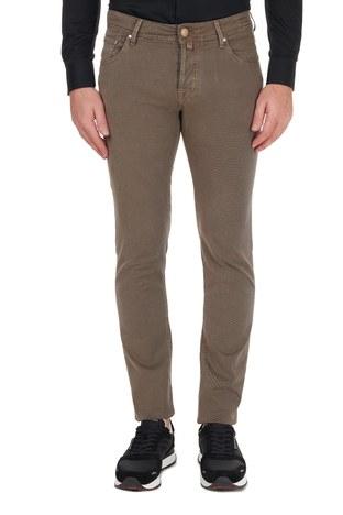 Jacob Cohen - Jacob Cohen Jeans Erkek Pamuklu Pantolon J622 SLIM 02090V 943 TABA (1)
