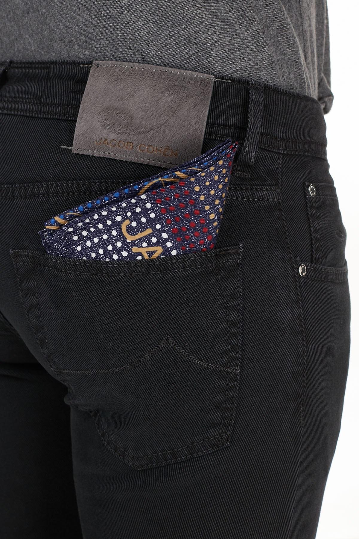Jacob Cohen Jeans Erkek Pamuklu Pantolon J622 SLIM 02090V 990 SİYAH