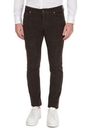 Jacob Cohen - Jacob Cohen Jeans Erkek Pamuklu Pantolon J622 SLIM 02092S 480 KAHVE (1)