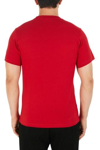 Kenzo Baskılı Bisiklet Yaka % 100 Pamuk Erkek T Shirt FA6 5TS020 4YA 22 KIRMIZI