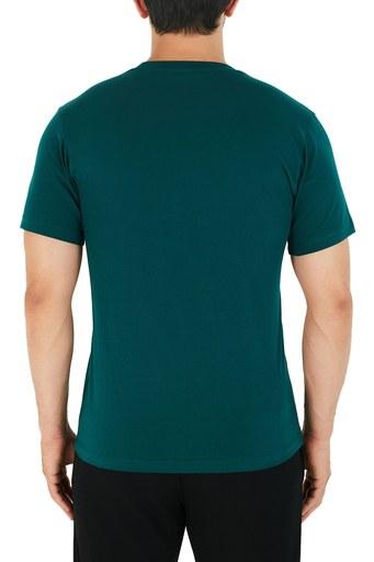Kenzo Baskılı Bisiklet Yaka % 100 Pamuk Erkek T Shirt FA6 5TS020 4YA 73 PETROL