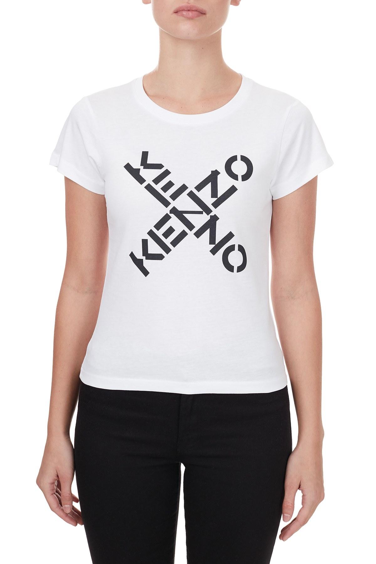 Kenzo Bayan T Shirt FA6 2TS720 4SJ01 BEYAZ
