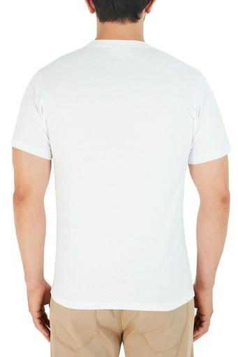 Kenzo Baskılı Bisiklet Yaka % 100 Pamuk Erkek T Shirt FA6 5TS020 4YA 01 BEYAZ