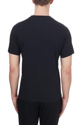 Kenzo Baskılı Pamuklu Bisiklet Yaka Erkek T Shirt FA6 5TS020 4YA 99 SİYAH