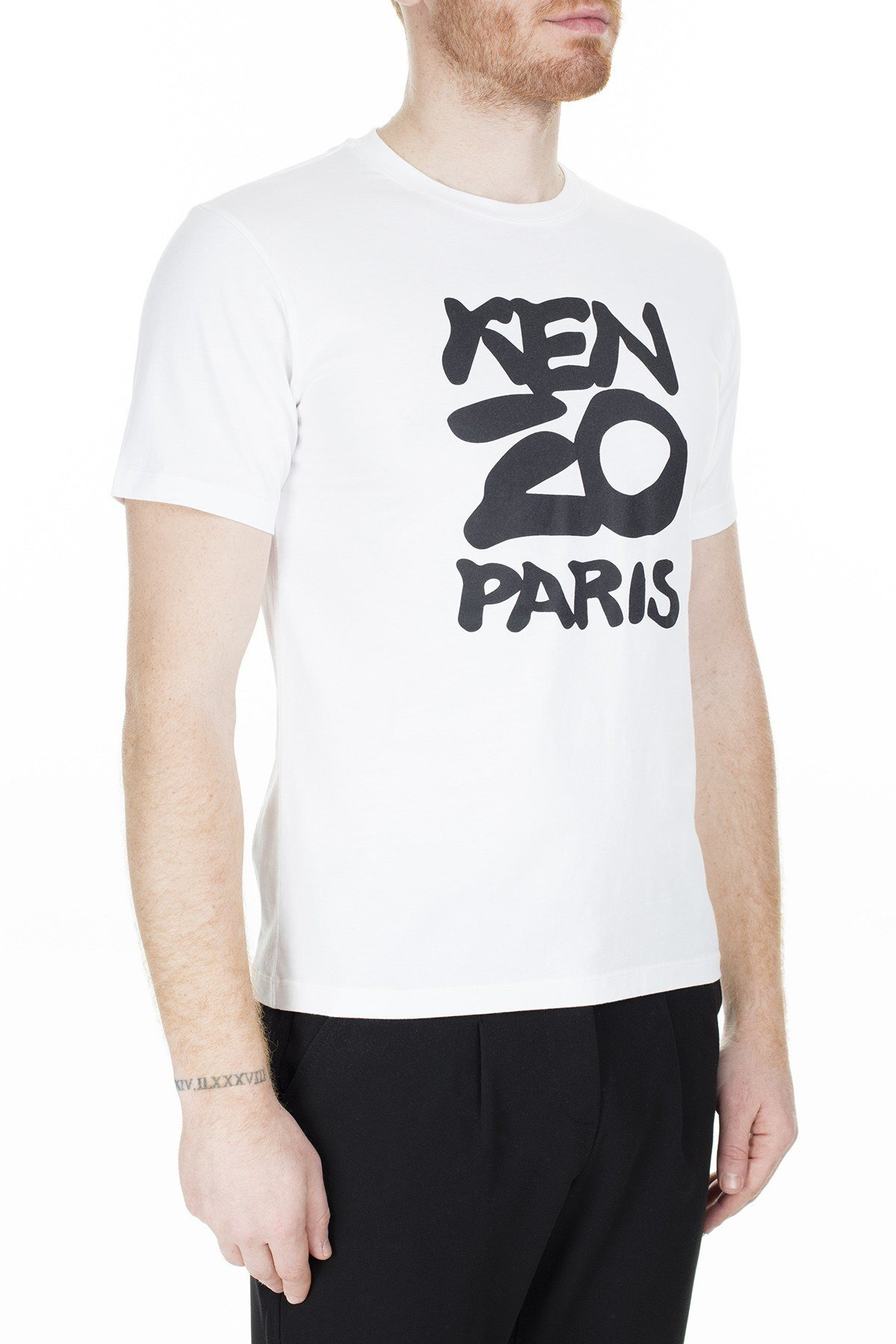 Kenzo Erkek T Shirt FA5 5TS018 4SA 01 BEYAZ