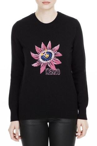 Kenzo - Kenzo Kadın Kazak F96 2TO630 823 99 SİYAH
