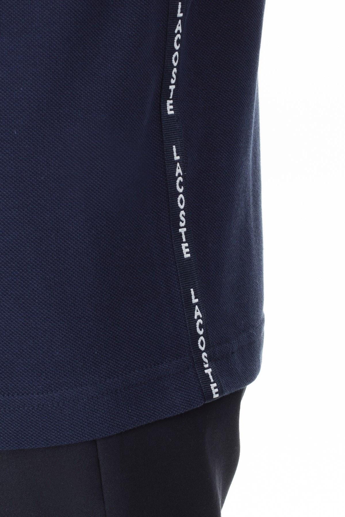 Lacoste % 100 Pamuk Slim Fit T Shirt Erkek Polo PH0008 08L LACİVERT