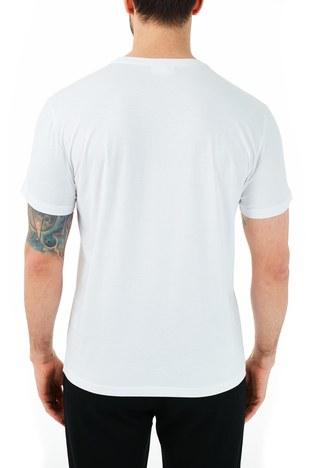 Lacoste - Lacoste % 100 Pamuklu Bisiklet Yaka Erkek T Shirt TH0101 01B BEYAZ (1)