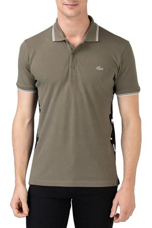 Lacoste - Lacoste % 100 Pamuklu Slim Fit T Shirt Erkek Polo PH0102 02H HAKİ