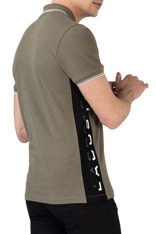 Lacoste - Lacoste % 100 Pamuklu Slim Fit T Shirt Erkek Polo PH0102 02H HAKİ (1)