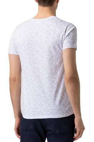 Lacoste - Lacoste % 100 Pamuklu Slim Fit V Yaka Erkek T Shirt TH0148 48B BEYAZ (1)