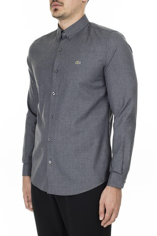 Lacoste Düğmeli Yaka Pamuklu Slim Fit Erkek Gömlek CH2138 38S SİYAH