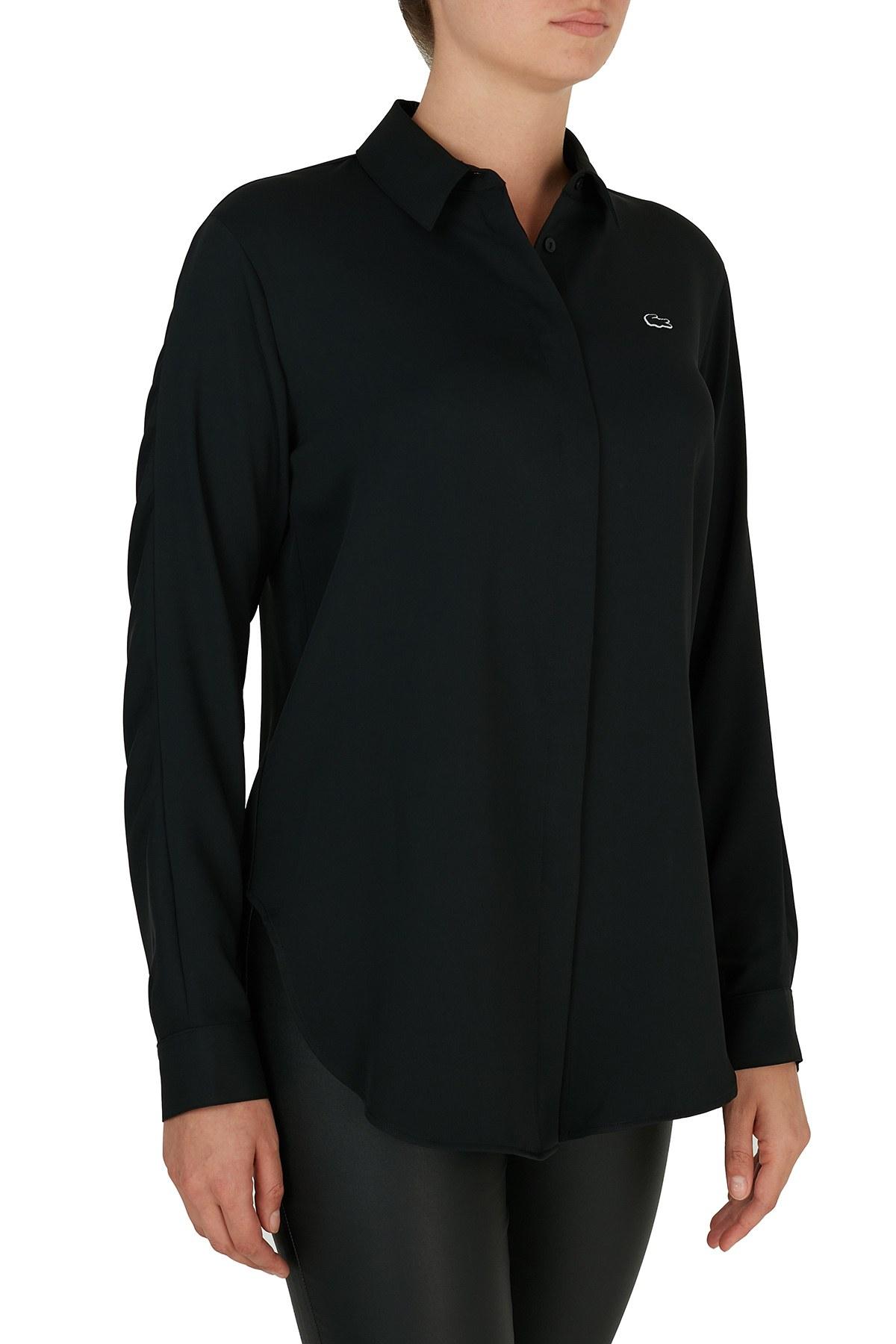Lacoste Düz Yaka Kadın Gömlek CF2108 08S SİYAH