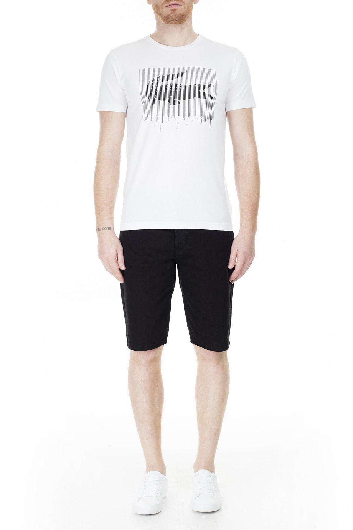 Lacoste Erkek T Shirt TH0013 13A BEYAZ